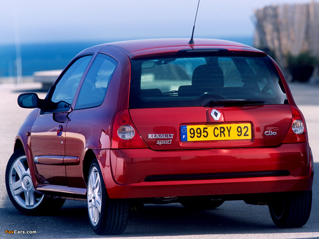 Renault Clio RS 2002–05 wallpapers (1024 x 768)
