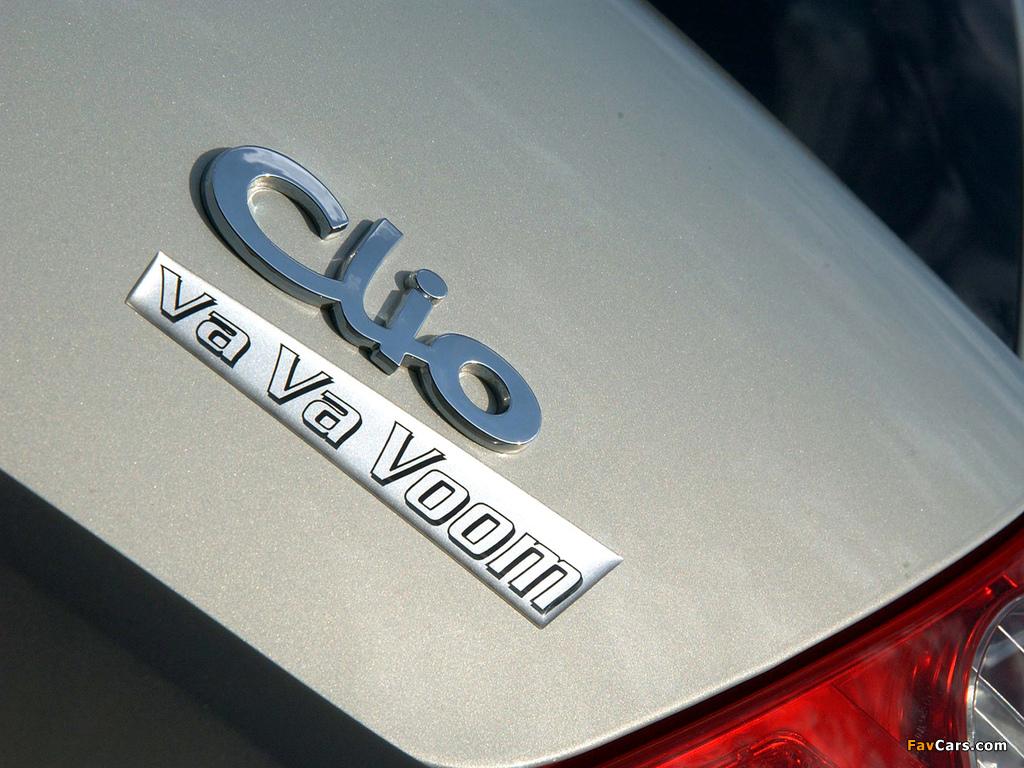 Renault Clio Va Va Voom 2004 pictures (1024 x 768)