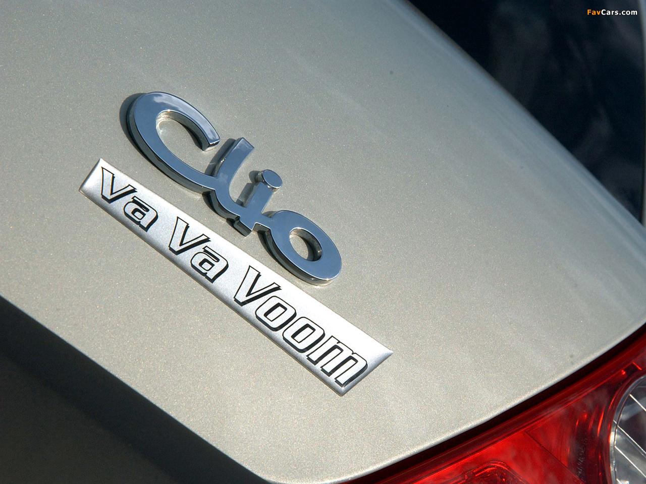 Renault Clio Va Va Voom 2004 pictures (1280 x 960)