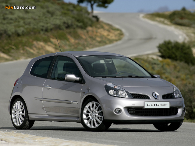 Renault Clio RS 2006–09 wallpapers (640 x 480)