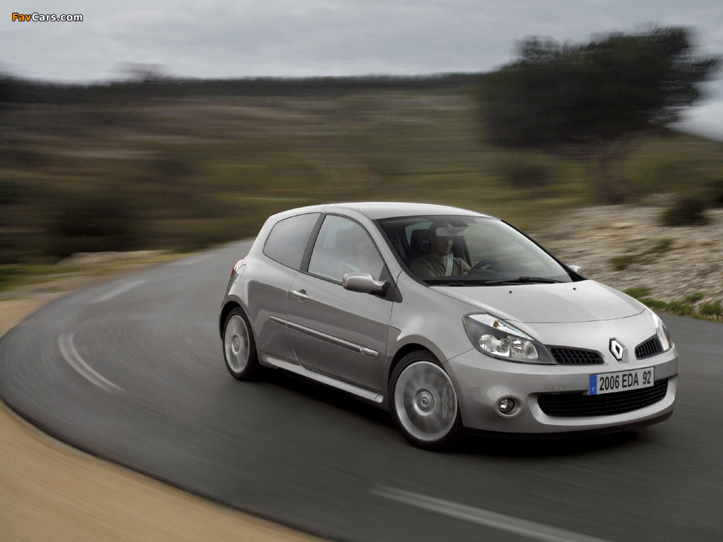 Renault Clio RS 2006–09 wallpapers (1024 x 768)