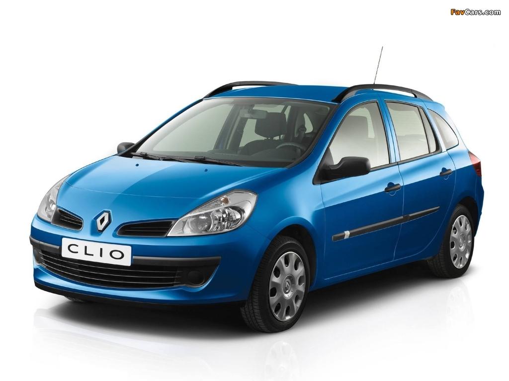 Renault Clio Sport Tourer 2008–09 images (1024 x 768)