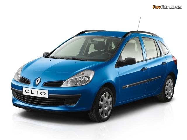 Renault Clio Sport Tourer 2008–09 images (640 x 480)