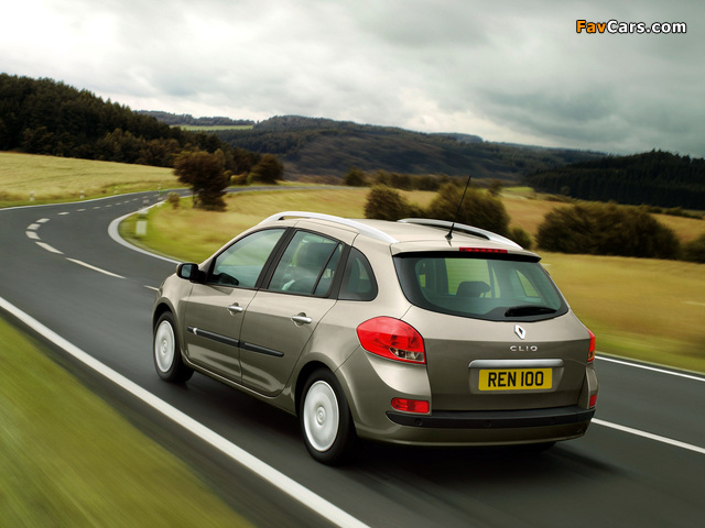 Renault Clio Sport Tourer UK-spec 2008–09 pictures (640 x 480)