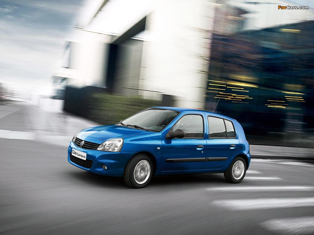Renault Clio Campus 5-door 2009–12 images (1024 x 768)