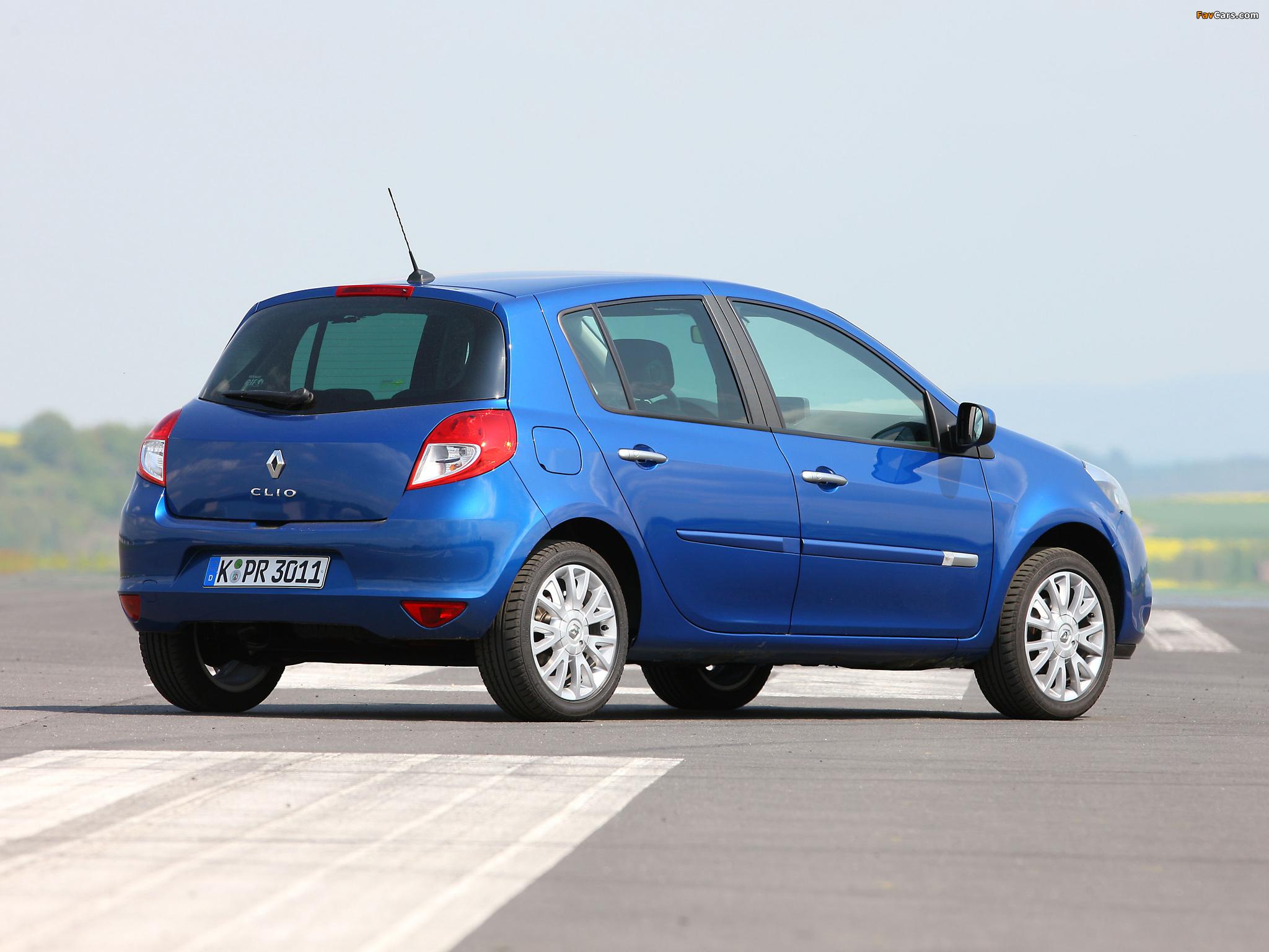 Renault Clio 5-door 2009–12 photos (2048 x 1536)