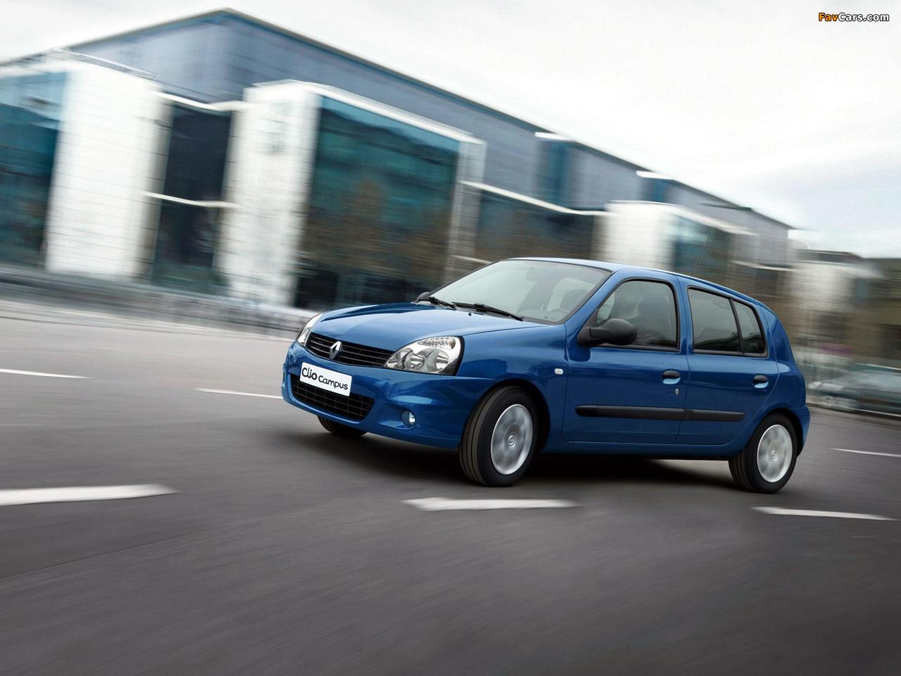 Renault Clio Campus 5-door 2009–12 wallpapers (1280 x 960)