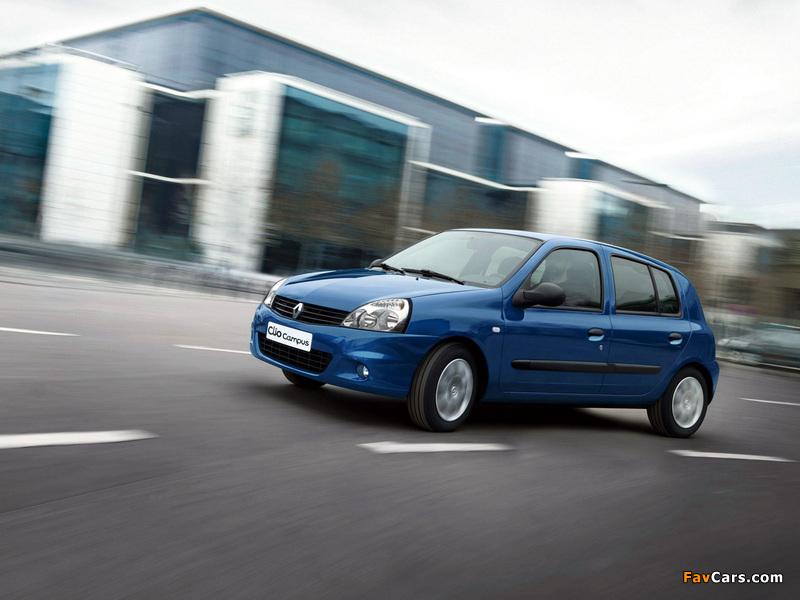 Renault Clio Campus 5-door 2009–12 wallpapers (800 x 600)