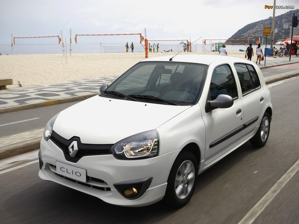 Renault Clio Mercosur 5-door 2012 wallpapers (1024 x 768)