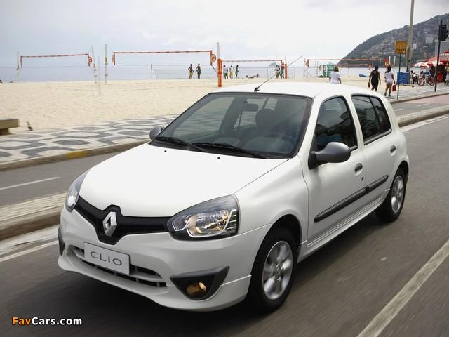Renault Clio Mercosur 5-door 2012 wallpapers (640 x 480)