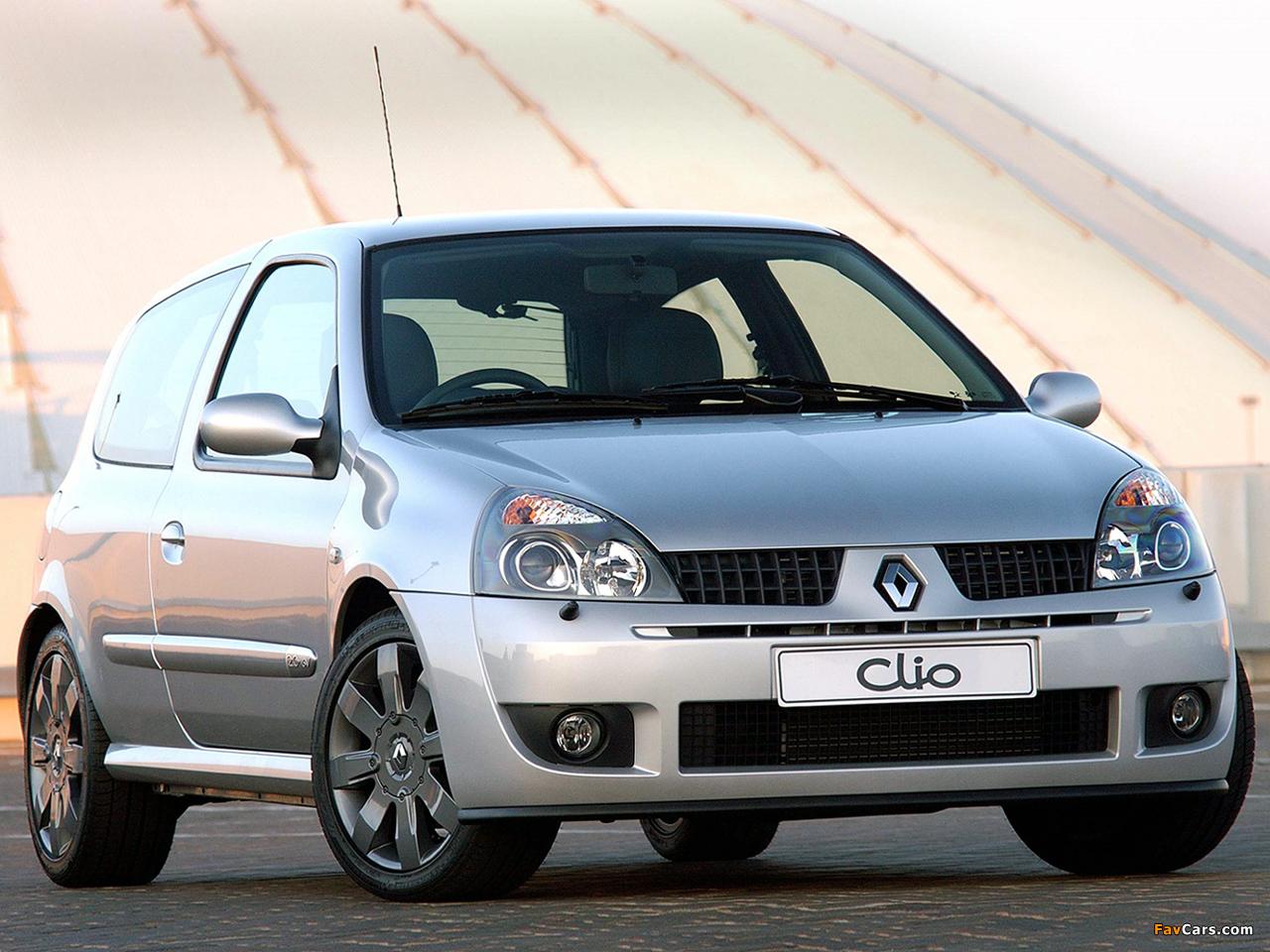 Renault Clio Sport ZA-spec 2002–05 wallpapers (1280 x 960)