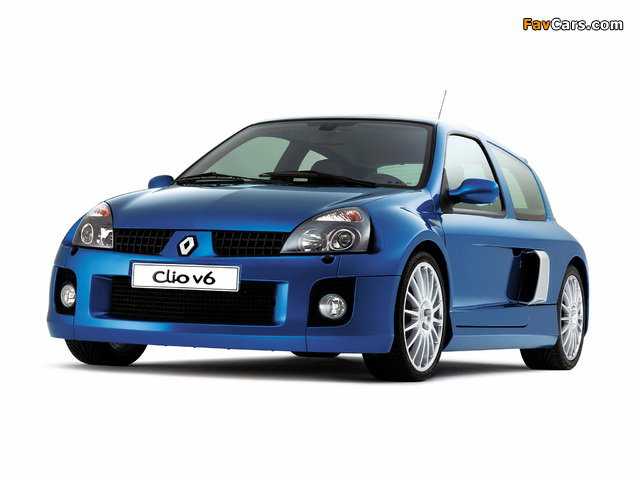 Renault Clio V6 Sport 2003–04 wallpapers (640 x 480)