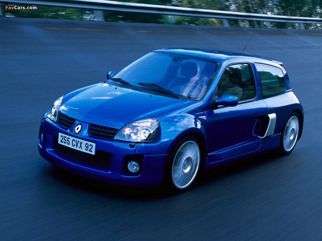 Renault Clio V6 Sport 2003–04 wallpapers (1024 x 768)