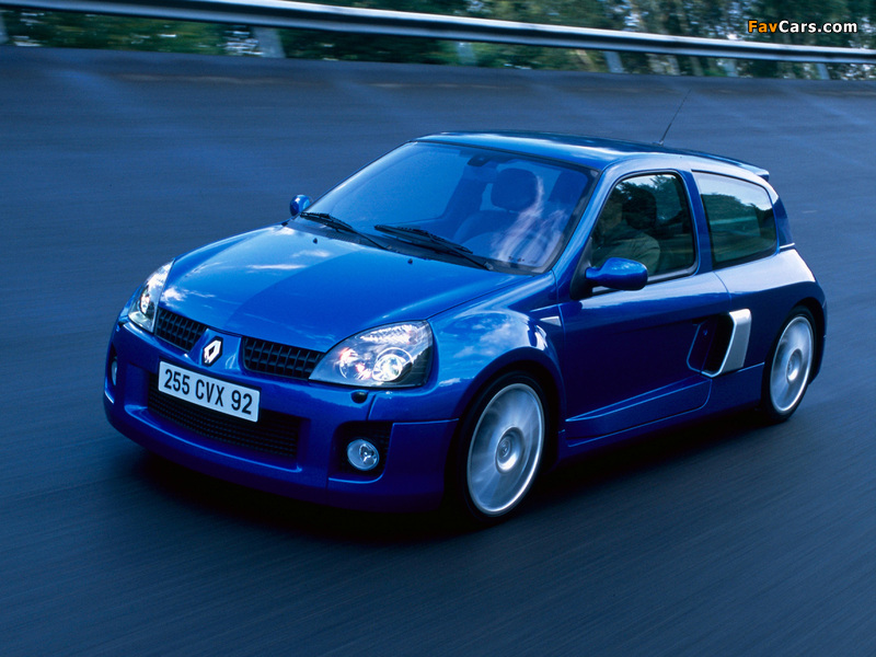 Renault Clio V6 Sport 2003–04 wallpapers (800 x 600)