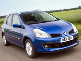 Renault Clio Sport Tourer UK-spec 2008–09 wallpapers