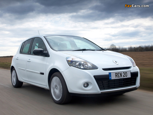 Renault Clio 20th Limited Edition UK-spec 2010 wallpapers (640 x 480)