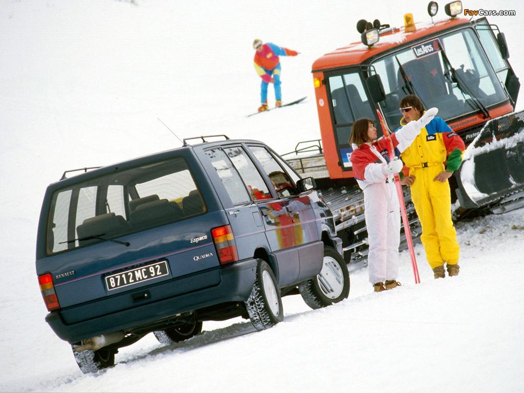 Renault Espace Quadra (J11) 1988–91 photos (1024 x 768)