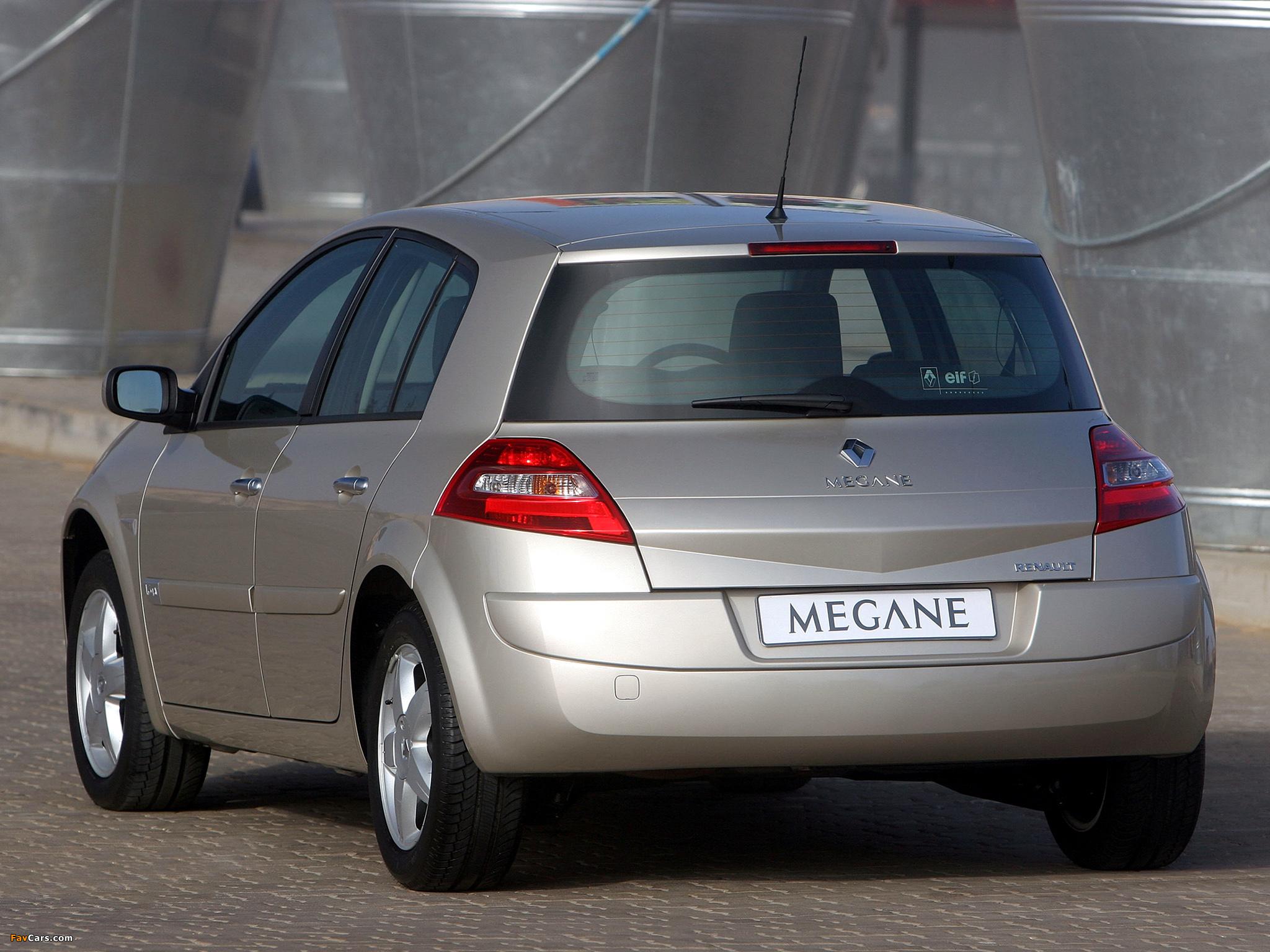Photos of Renault Megane 5-door ZA-spec 2006–09 (2048 x 1536)