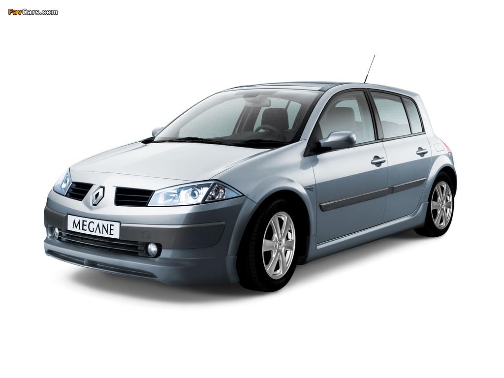 Renault Megane 5-door 2003–06 wallpapers (1024 x 768)