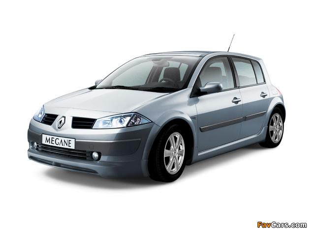 Renault Megane 5-door 2003–06 wallpapers (640 x 480)