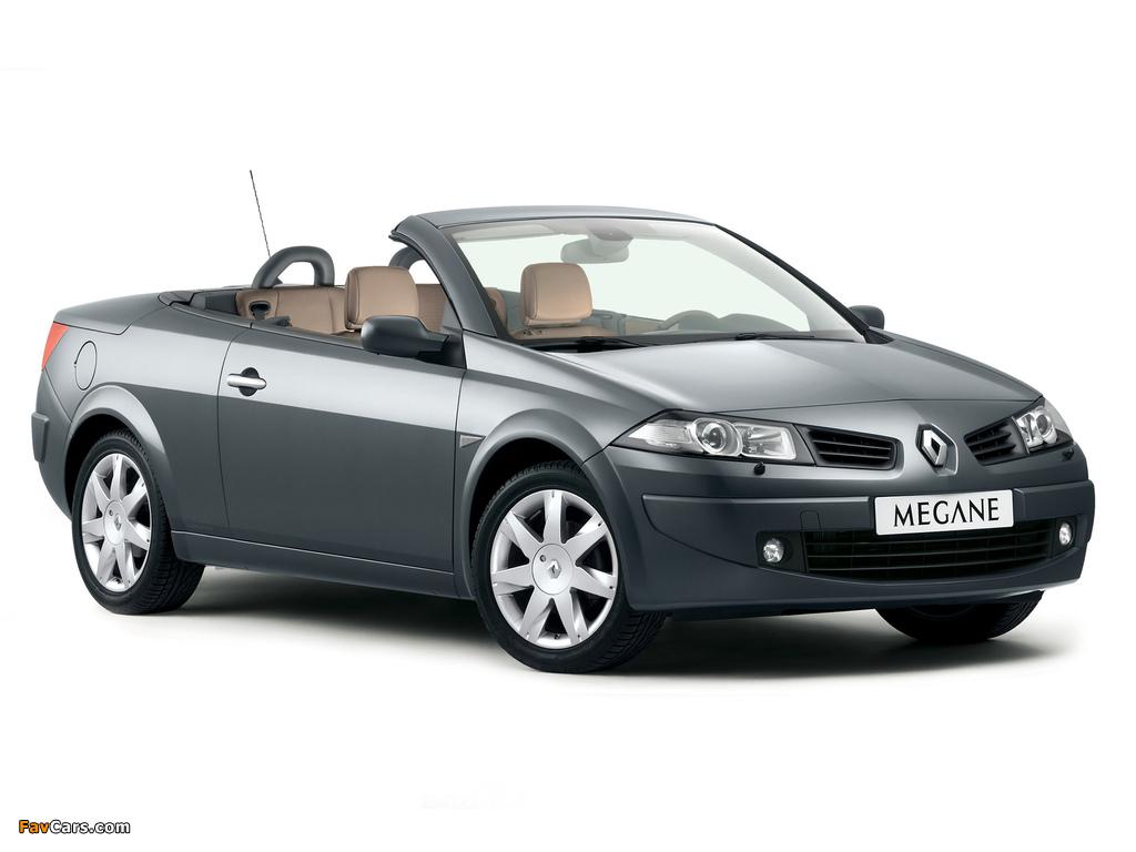 Renault Megane CC 2006–10 photos (1024 x 768)