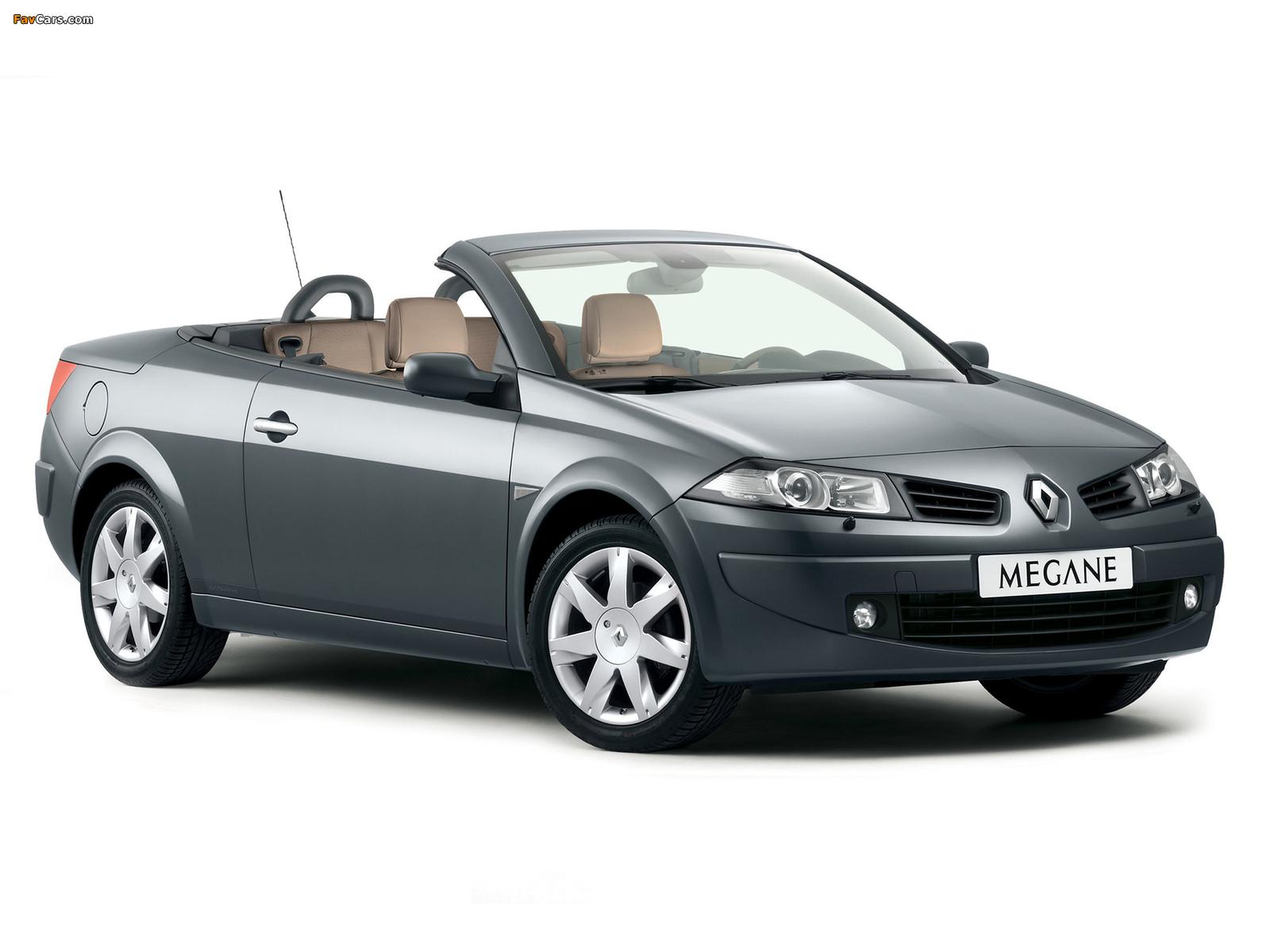 Renault Megane CC 2006–10 photos (1600 x 1200)