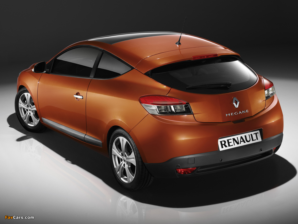 Renault Megane Coupe 2009 wallpapers (1024 x 768)