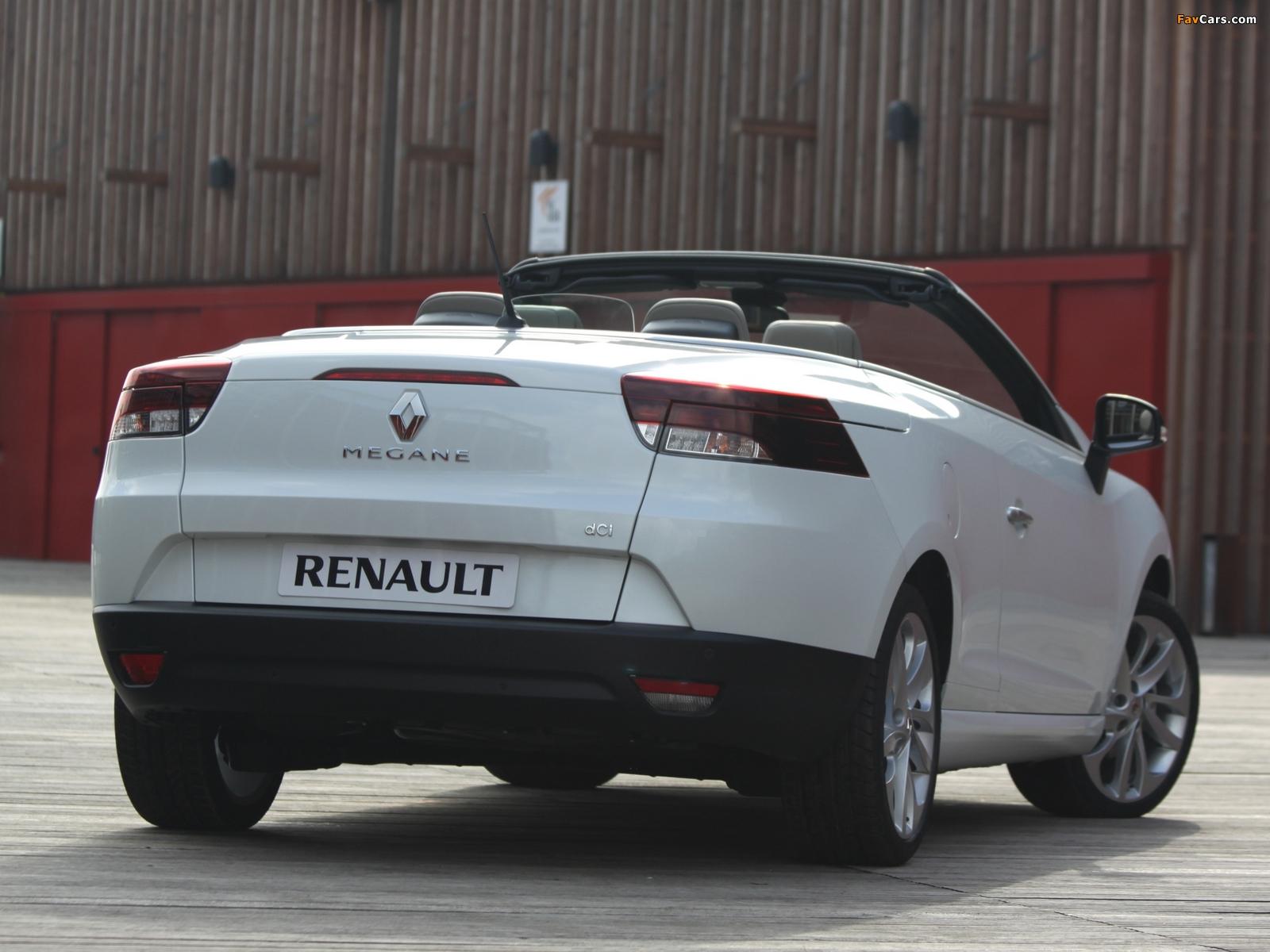 Renault Mégane Coupé-Cabriolet 2010–14 wallpapers (1600 x 1200)