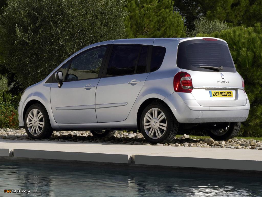 Renault Grand Modus UK-spec 2007 wallpapers (1024 x 768)
