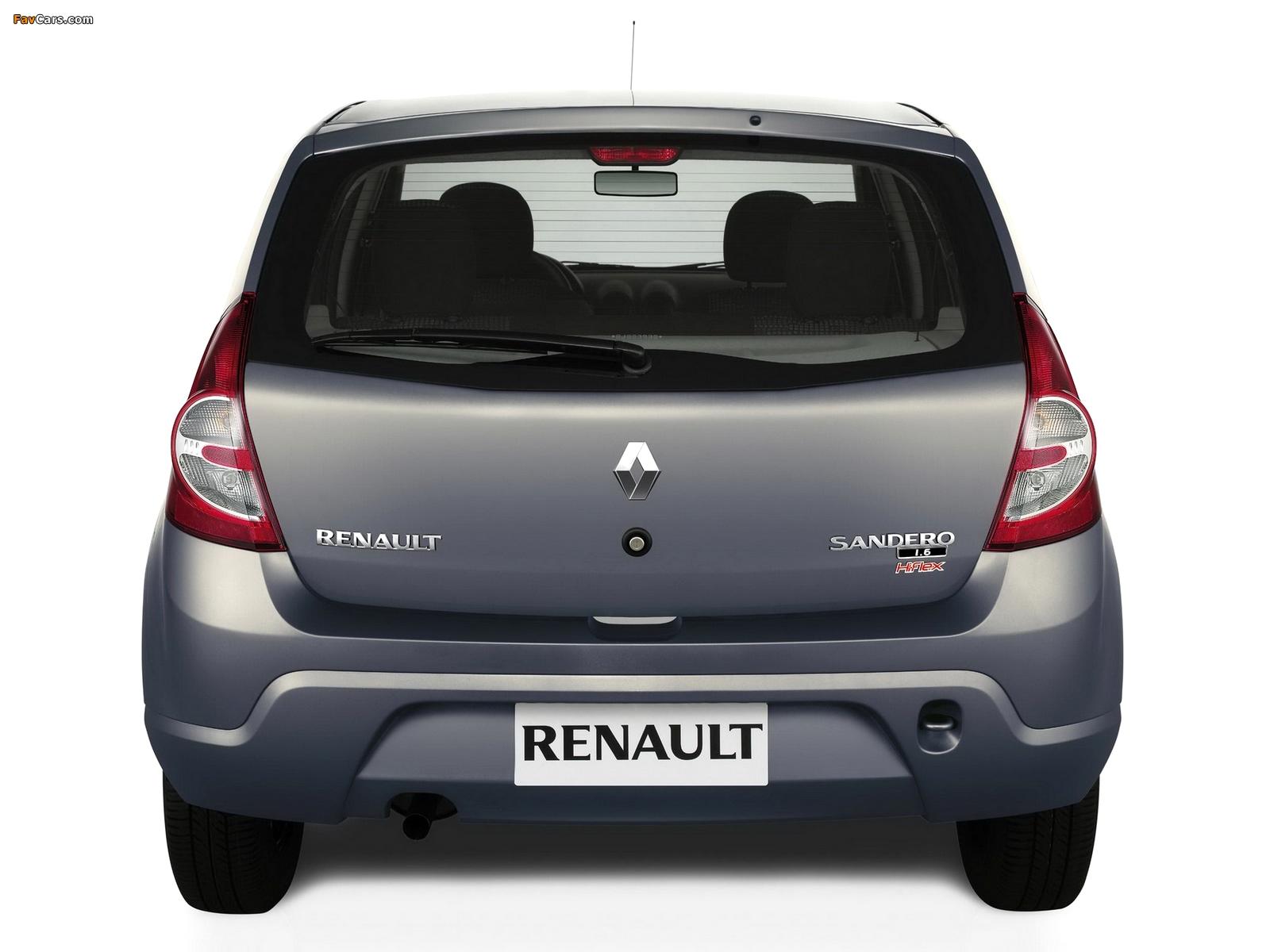 Renault Sandero BR-spec 2007–11 wallpapers (1600 x 1200)