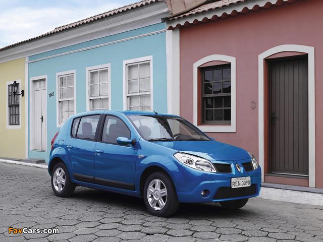 Renault Sandero BR-spec 2007–11 wallpapers (640 x 480)