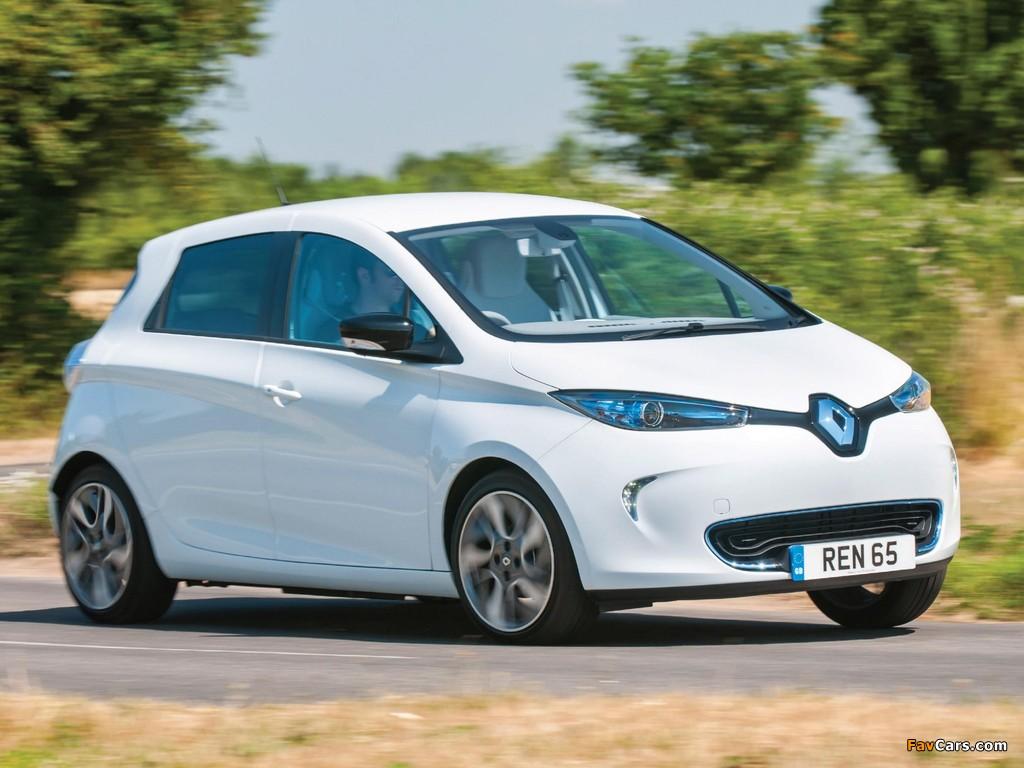 Renault Zoe Z.E. UK-spec 2013 wallpapers (1024 x 768)