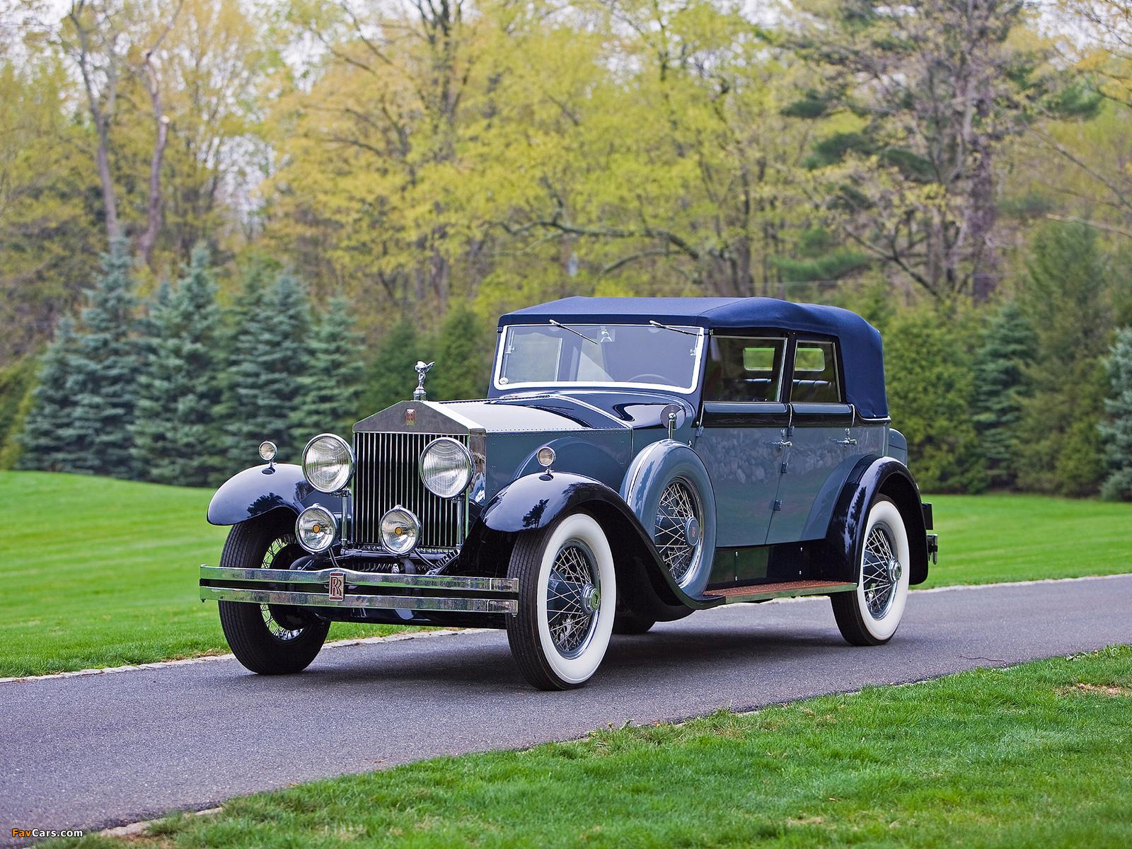Photos of Rolls-Royce Phantom I Convertible Sedan by Hibbard & Darrin 1929 (1600 x 1200)