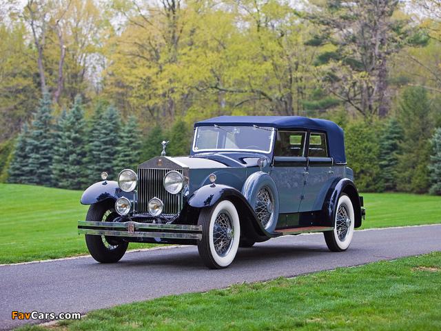 Photos of Rolls-Royce Phantom I Convertible Sedan by Hibbard & Darrin 1929 (640 x 480)