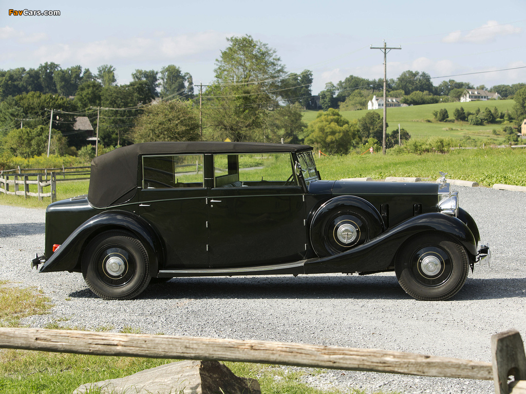Rolls-Royce Phantom III Four Light Cabriolet by Freestone & Webb 1938 wallpapers (1024 x 768)