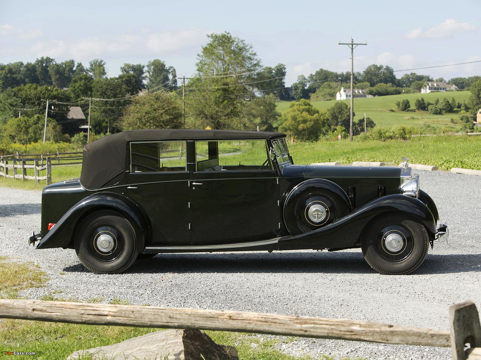 Rolls-Royce Phantom III Four Light Cabriolet by Freestone & Webb 1938 wallpapers (1600 x 1200)