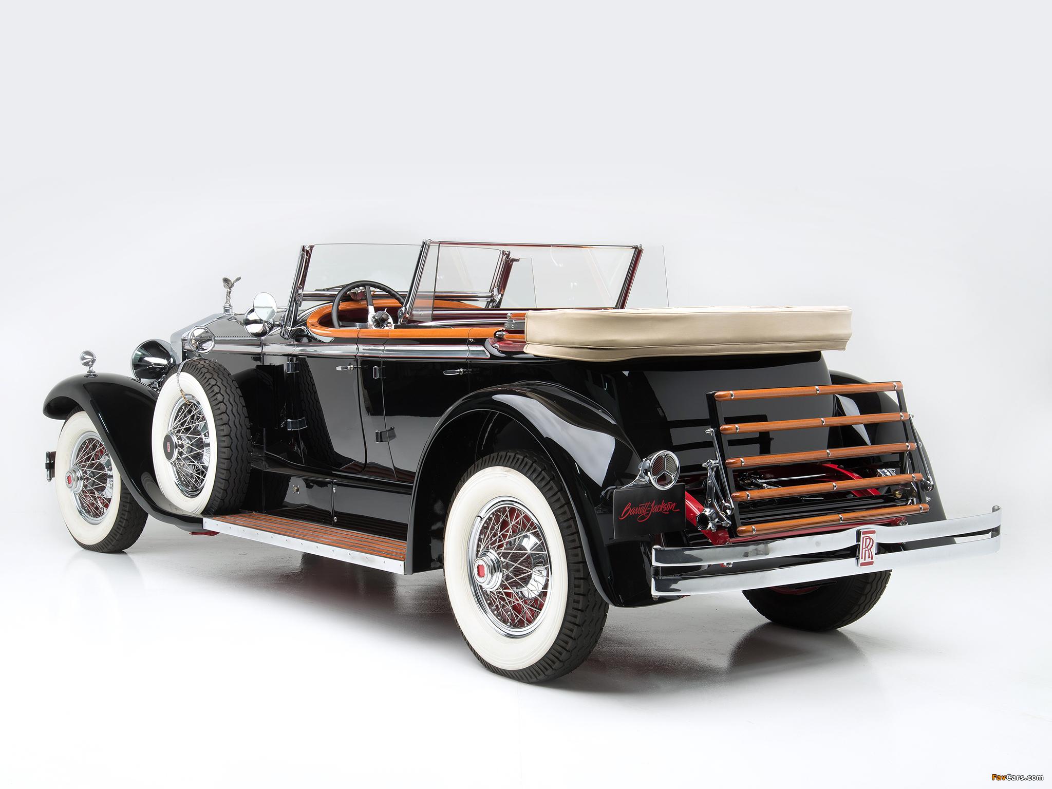 Rolls-Royce Springfield Phantom I Ascot Phaeton by Brewster (S308LR-7169) 1929 wallpapers (2048 x 1536)
