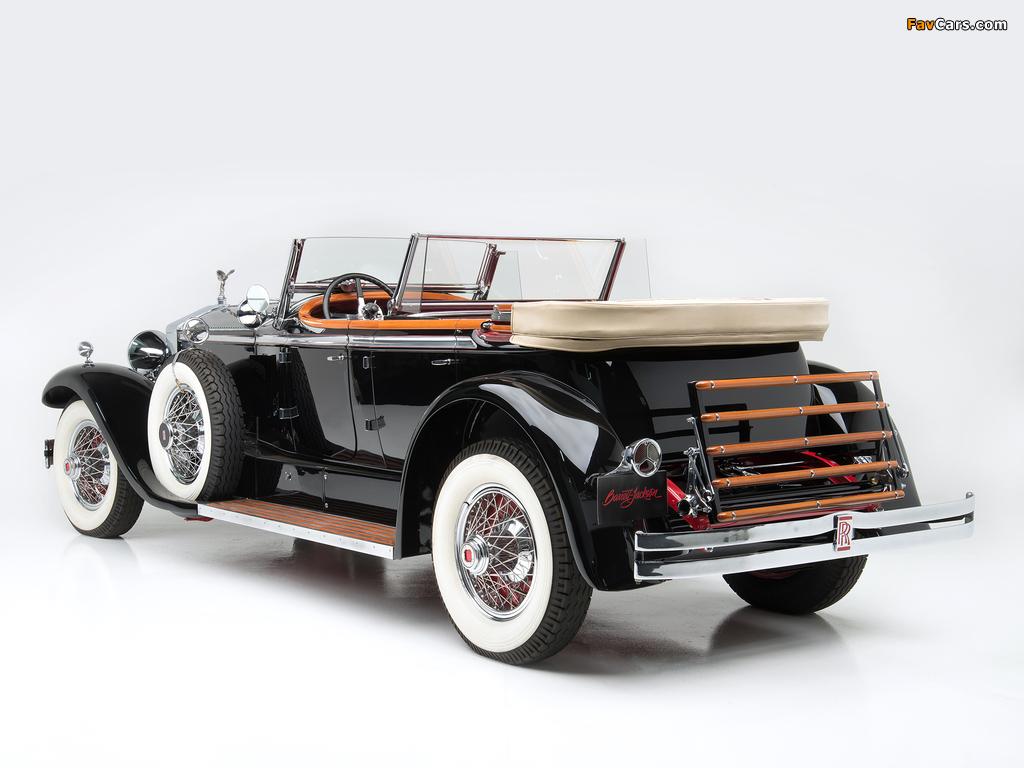Rolls-Royce Springfield Phantom I Ascot Phaeton by Brewster (S308LR-7169) 1929 wallpapers (1024 x 768)
