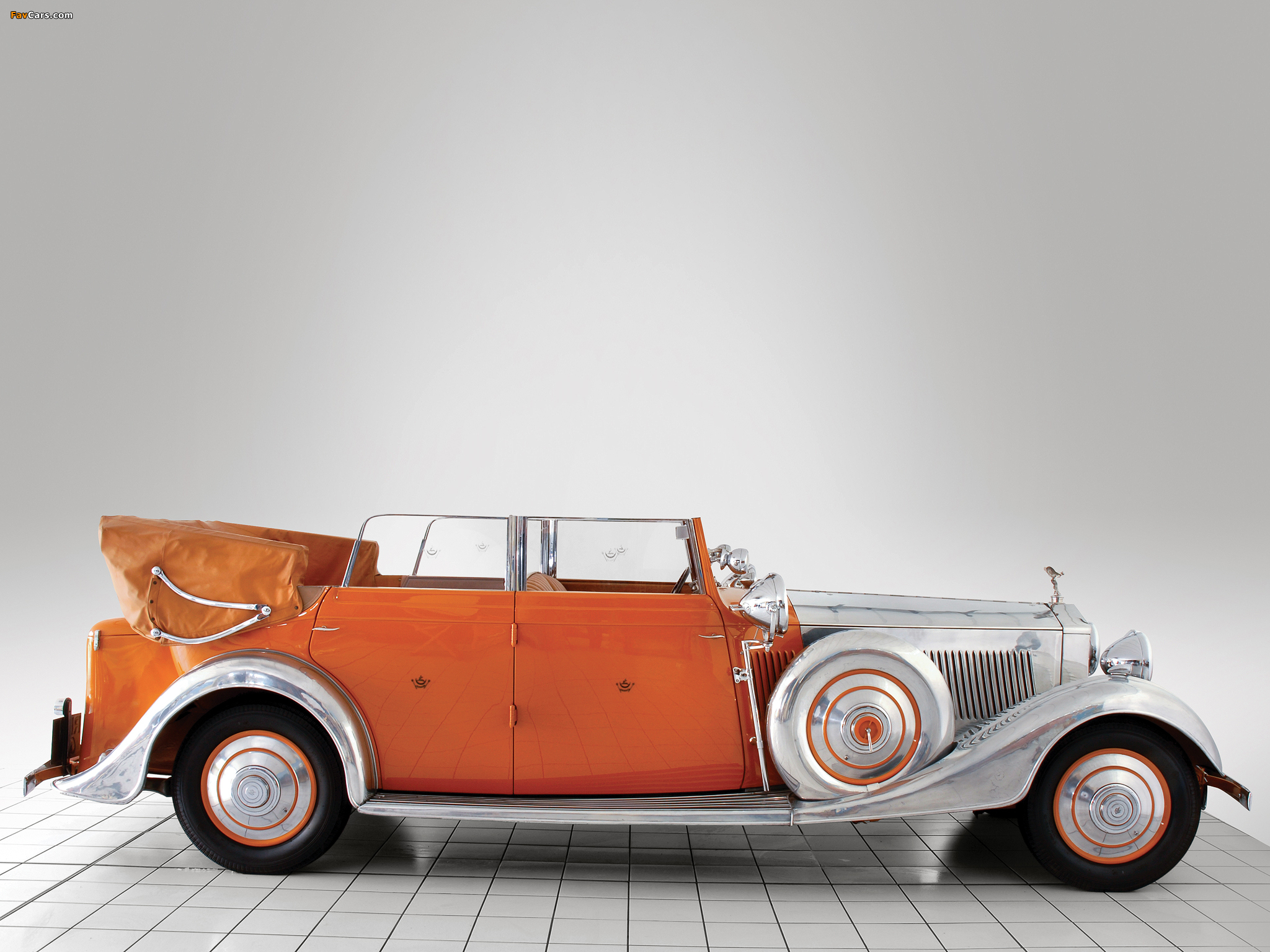 Rolls-Royce Phantom II 40/50 HP Cabriolet Star of India 1934 wallpapers (2048 x 1536)