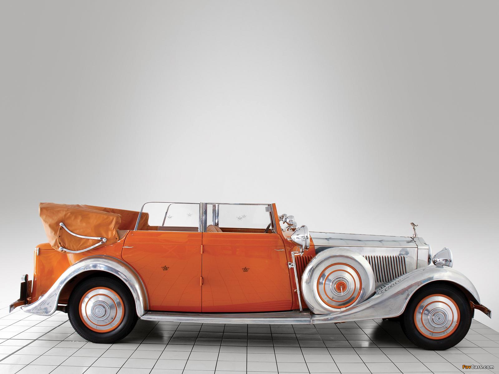 Rolls-Royce Phantom II 40/50 HP Cabriolet Star of India 1934 wallpapers (1600 x 1200)