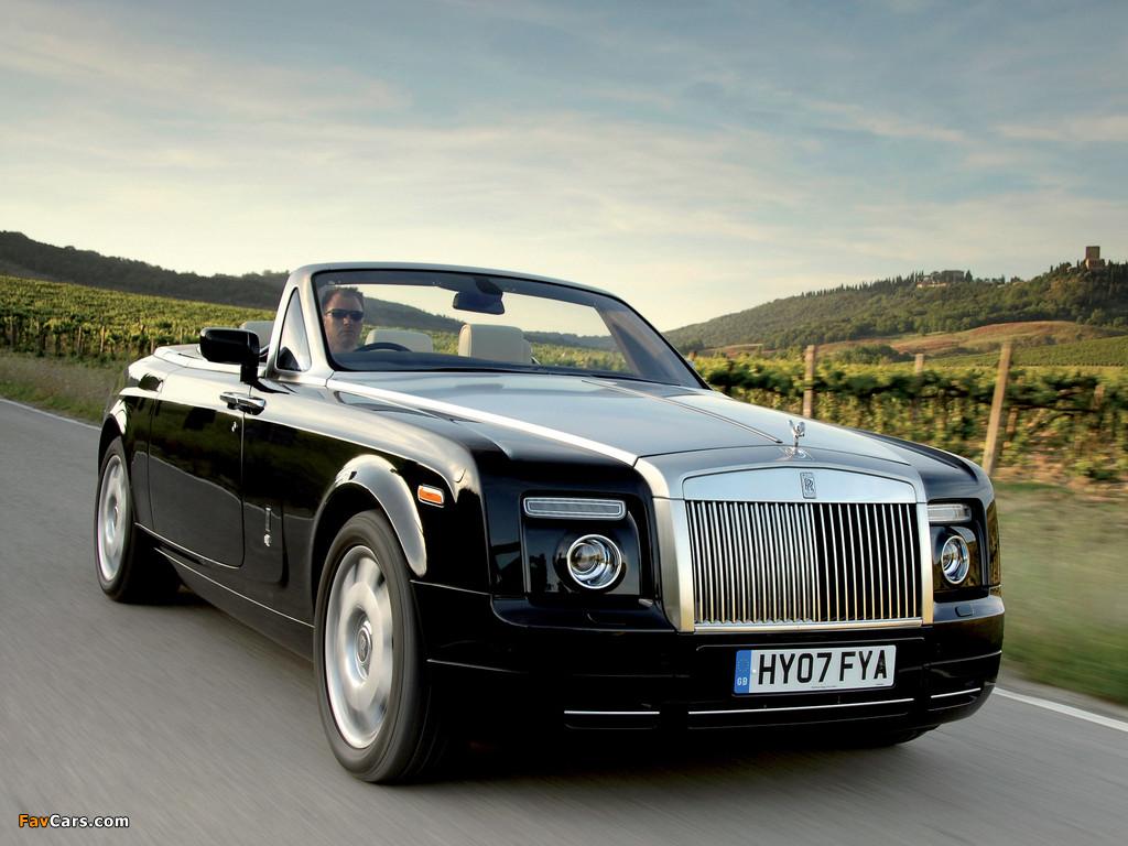 Rolls-Royce Phantom Drophead Coupe UK-spec 2008–12 wallpapers (1024 x 768)