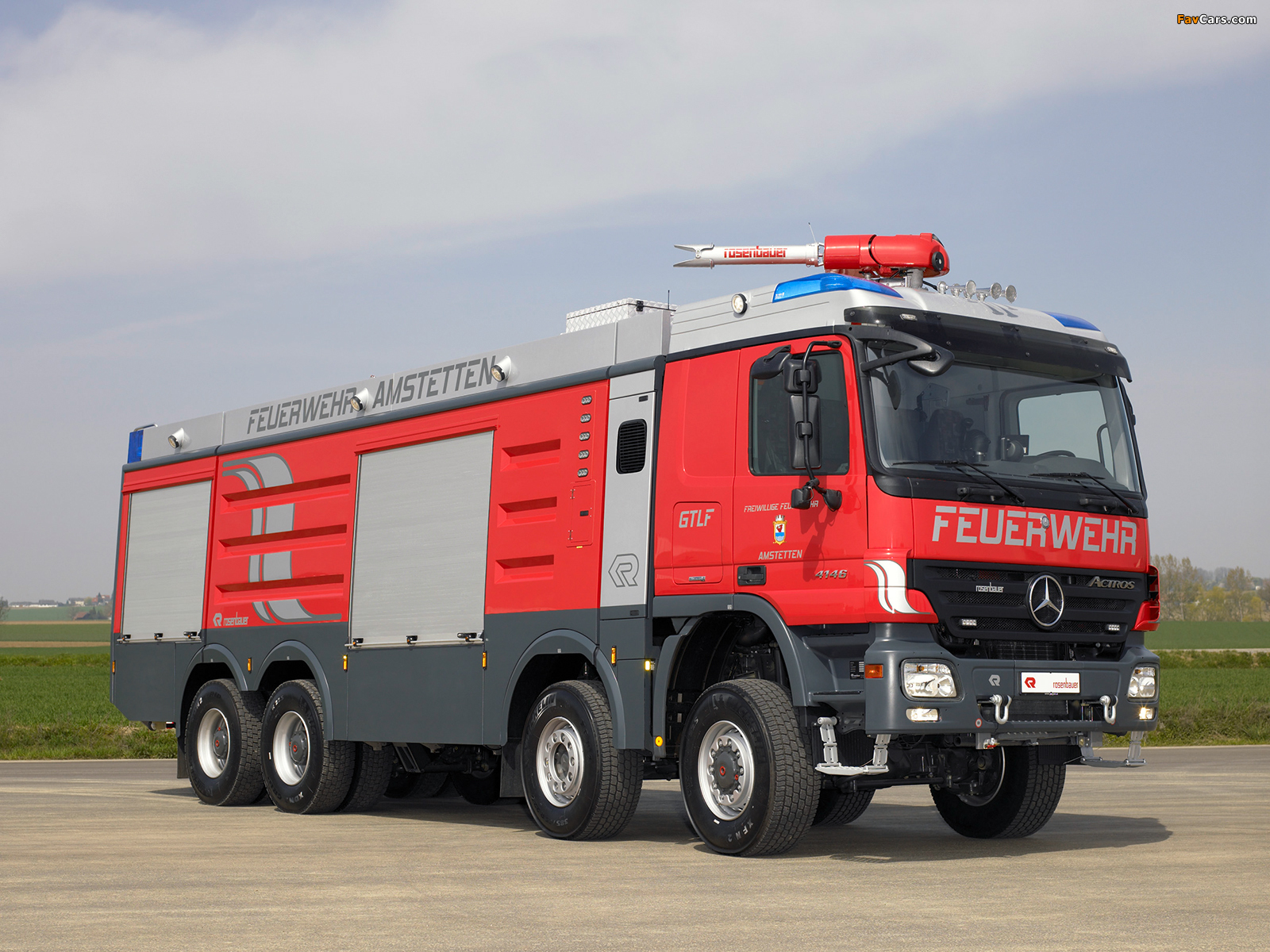 Rosenbauer Mercedes-Benz Actros 4146 PT GTLF (MP2) 2000–09 wallpapers (1600 x 1200)