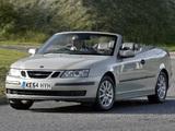 Saab 9-3 1.8t Convertible UK-spec 2003–07 images