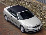 Saab 9-3 1.8t Convertible UK-spec 2003–07 photos