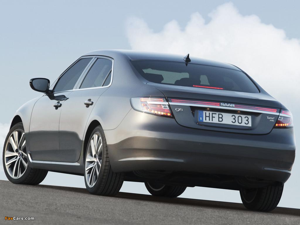 Saab 9-5 Sedan 2010–11 images (1024 x 768)
