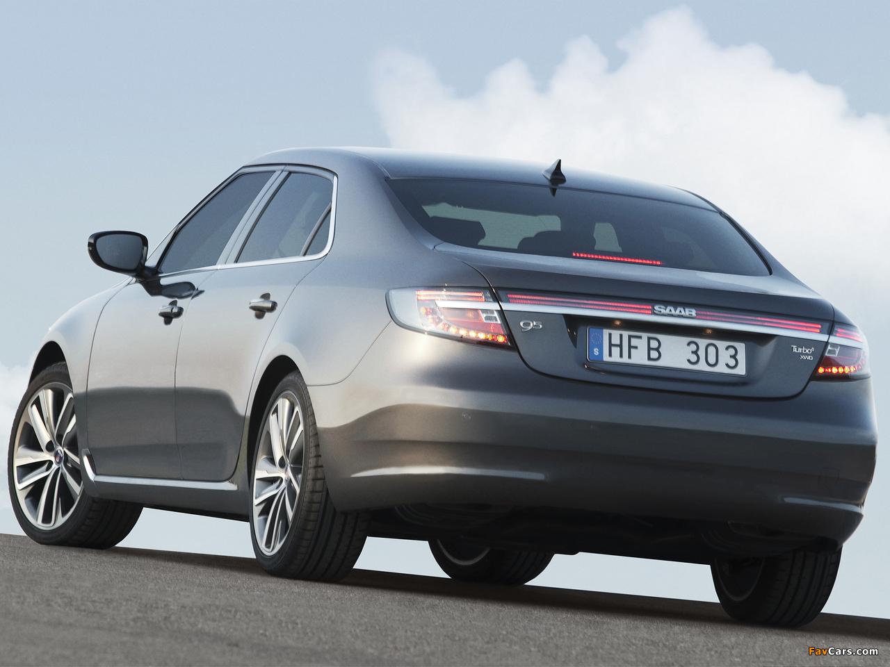 Saab 9-5 Sedan 2010–11 images (1280 x 960)