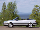 Saab 900 SE Turbo Convertible 1993–98 wallpapers