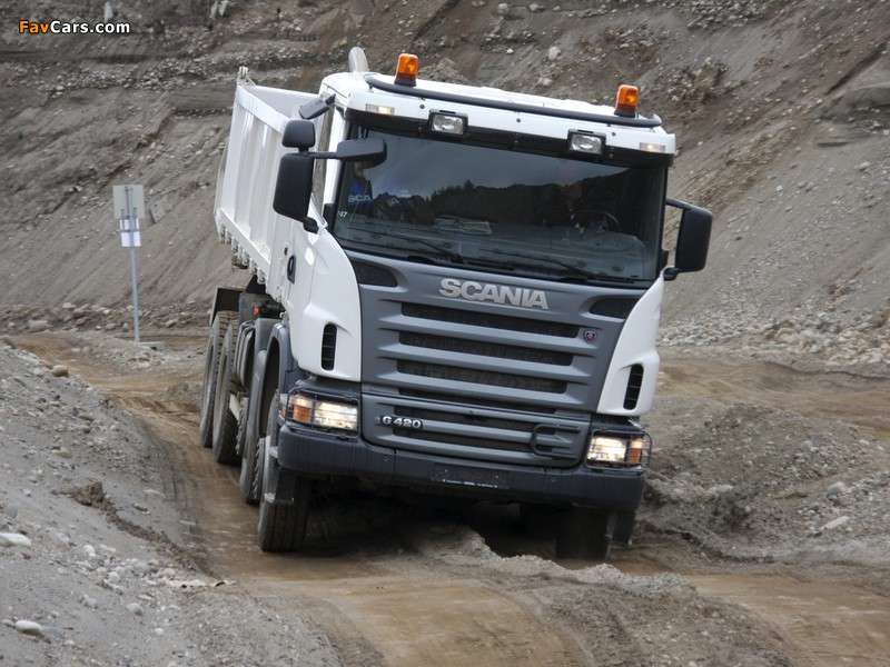 Scania G420 8x6 Tipper 2005–10 images (800 x 600)
