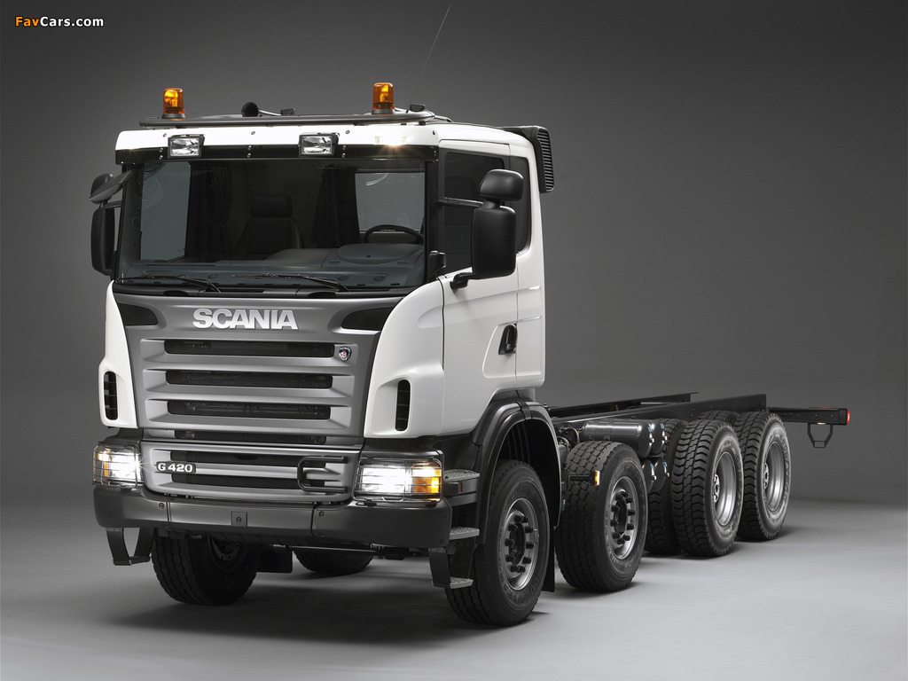 Scania G420 8x4 2005–10 wallpapers (1024 x 768)
