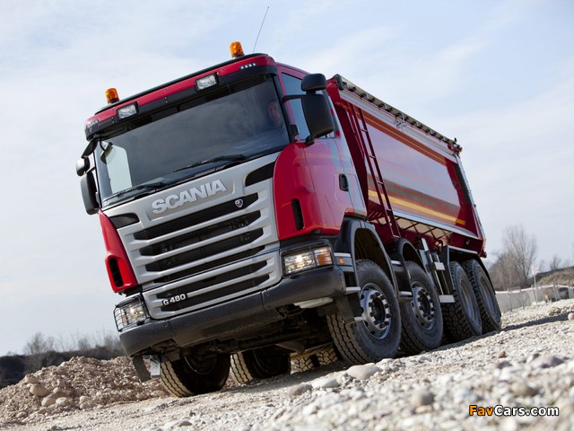Scania G480 8x4 Tipper 2010–13 images (640 x 480)